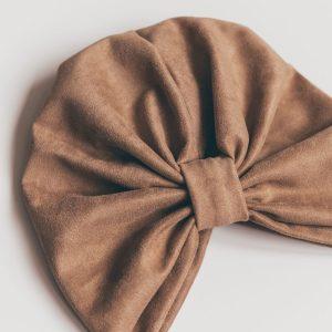 Turban – CAMEL SUEDE