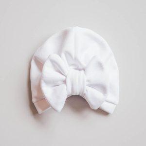 Topel turban z mašno – WHITE